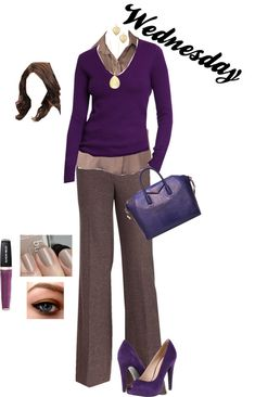 """Working Outfit - Wednesday"" by monicaprates on Polyvore"