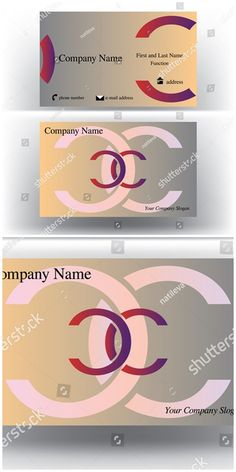 #vector #illustration Colorful #business #card with double C #letter #logo symbol
