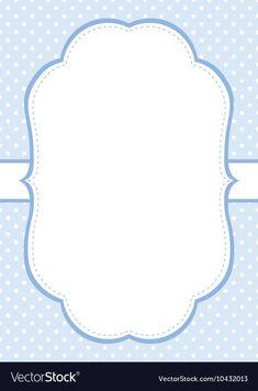 Blue Polka Dot Invitation Template vector image on VectorStock Christening Invitations Boy, Baby Shower Invitations For Boys, Birthday Invitations, Baby Girl Owl, Baby Banners, Polka Dot Background, Boy Baptism, Baby Album, Blue Polka Dots