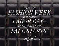Fall starts with fashion week.