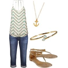 Simple summer outfit. #nautical