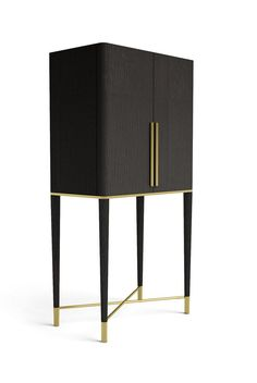 BLACK & GOLD LEAF BAR CABINET FOR BOLDHOME DÉCORS - Google Search