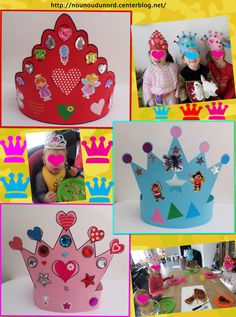 School Birthday, Diy Birthday, Projects For Kids, Crafts For Kids, Arts And Crafts, Castle Crafts, Crown Crafts, Crown Template, Paper Crowns