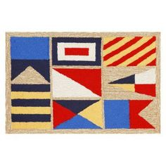 Liora Manne Frontporch Signal Flags Indoor / Outdoor Doormat - FTP12140312, TRN1450-1