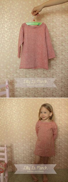 PDF Sewing pattern  Boho toddler girl dress  long by LillyLaManch