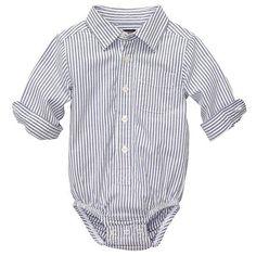 OshKosh B'gosh Striped Woven Bodysuit - Baby