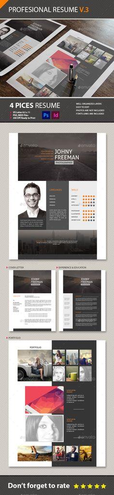 Modern Resume Bundle Print Templates - Stationery Pinterest - web producer resume