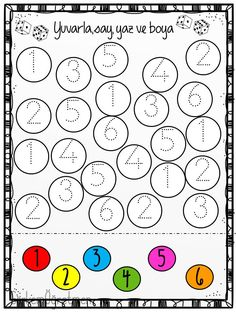 Spring Math and Literacy Worksheets for Preschool Nursery Worksheets, Literacy Worksheets, Math Literacy, School Worksheets, Preschool Activities, Numbers Preschool, Learning Numbers, Free Preschool, Kindergarten Colors