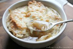 6 French Onion Soup - making it in the mountains