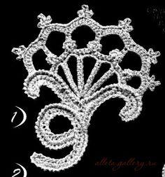 "Gallery.ru / Фото #1 - ""Веерочки"" и арочные цветы - Alleta...Beautiful Irish crochet motifs and free schemas!!"