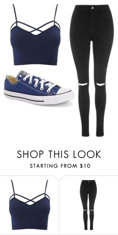 """Untitled #480"" by cuteskyiscute on Polyvore featuring Charlotte Russe, Topshop, Converse and plus size clothing"