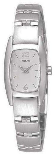 Pulsar PJ5097 Women's White Dial Stainless Steel Quartz Watch