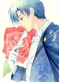 タキシード仮面/アガハリ - This isn't official artwork, but it's so pretty! Love the roses on his vest!  http://www.pixiv.net/member_illust.php?mode=medium&illust_id=27750454