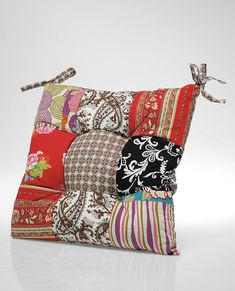 patchwork seat cushion by i love retro | notonthehighstreet.com