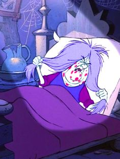 """I hate sunshine"" ... Madam Mim (from Sword In the Stone)"