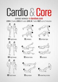 Cardio & Core - Darebee Workout More
