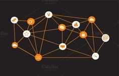 Social media icons network. Travel Infographics. $6.00