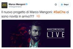 """Marco Mengoni: il 14 ottobre esce il singolo """"Sai che"""""""