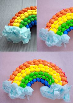 rainbow cake - I don't normally bake cakes, but might have to try this with boxed mix and a can of frosting!