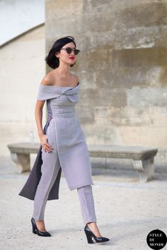 Nicole Warne of Gary Pepper Street Style Street Fashion Streetsnaps by STYLEDUMONDE Street Style Fashion Blog