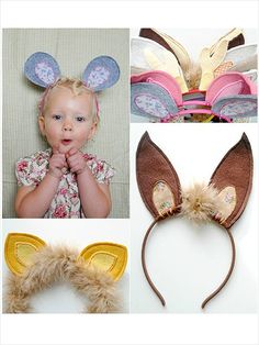 DIY adorable ear headbands for the kids