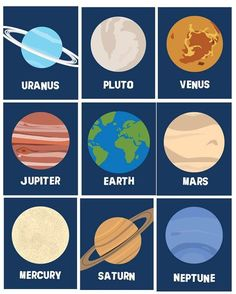 Solar System Planets Wall Decor, Wall Art Prints , Ten Piece for Toddler, Nursery Room Art prints, Outer space planets themed room or Solar System Art, Solar System Model, Solar System Planets, Solar System Projects For Kids, Earth And Space, Decor Planet, Planet Project, Systems Art, Space Planets