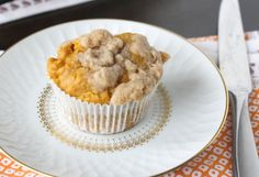 Pumpkin Apple Streusel Muffins. (Almond flour+Gluten-free all-purpose flour) I'm making these, TO-DAY!