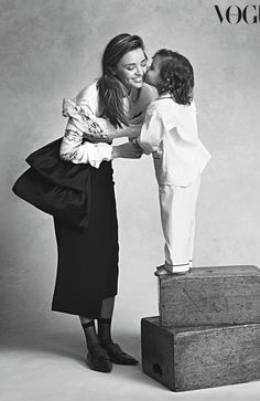 mother and son kisses :: Miranda Kerr and Flynn Bloom for Vogue Australia, July 2014 :: #family #photography