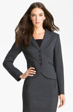 MINE!  looks killer with the skirt!  Halogen® Double Check Pattern Jacket available at #Nordstrom