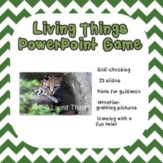 Living and Non Living Things PowerPoint Game from Michelle's Market on TeachersNotebook.com (23 pages)