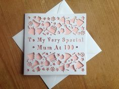 Laser cut personalised Birthday cards available from notonthehighstreet and www.sweetpeadesign.co.uk #cards #wedding #cardoftheday #lasercut #card