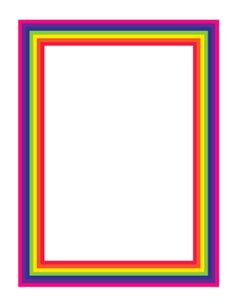This rainbow border uses bright rainbow colors that stack inward to surround the page. Perfect for an eye-catching flyer or to use as stationery. Free to download and print. Boarder Designs, Page Borders Design, Borders For Paper, Borders And Frames, Rainbow Art, Rainbow Colors, Page Boarders, Art Certificate, Label Paper