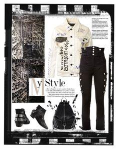 """Filles À Papa Nova Printed White Denim Jacket"" by affton ❤ liked on Polyvore featuring moda, Rebecca Minkoff, Filles à papa, Isabel Marant i polyvoreeditorial"