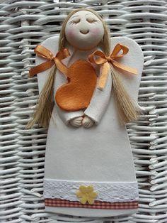 Pasja dekorowania : aniołkowo Diy Xmas, Homemade Christmas, Christmas Crafts, Christmas Ornaments, Polymer Clay Projects, Clay Crafts, Felt Crafts, Paper Clay, Clay Art