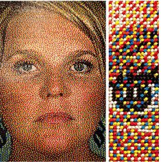 Thumbtack Art By Eric Daigh Mosaic Portrait, Portrait Art, Portraits, Portrait Ideas, Thumbtack Art, Push Pin Art, Ap Art, Elements Of Art, Canvas Poster