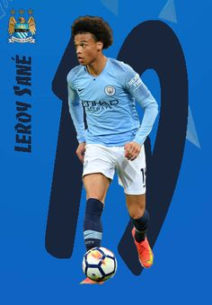 Leroy Sane of Man City in Best Football Players, Soccer Players, Manchester City, Neymar, Fifa, Wallpapers, Football Players, Drawings, Soccer Cards