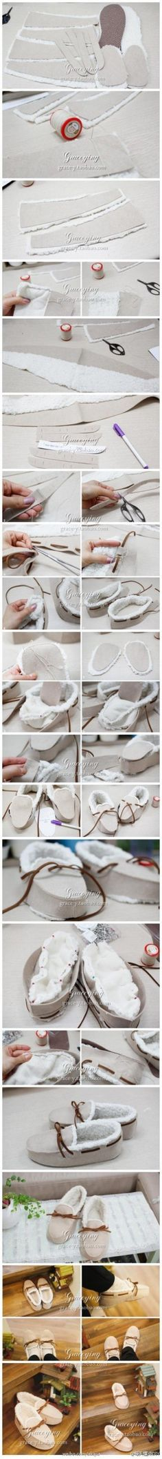 SaiFou – tutorial for moccasin slippers