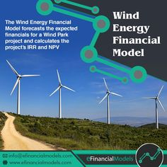 Excel financial model template for wind energy parks - multi-year financial forecasts and return estimates Financial Modeling, Renewable Energy, Business Planning, Wind Turbine, Accounting, Parks, Solar, Finance, Templates