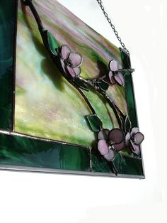 Stained glass sun catcher (would it work for a jewelry box lid?)  Hmmmmmm