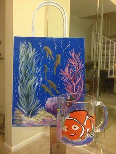 Hand-painted mug (painted by Helen krupenina)