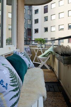 Trägolv och plats för möbler och grönska