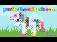 Cute Perler Bead Unicorn Pattern. Laceys Crafts is all about sharing super simple and adorable crafts for kids. Enjoy!