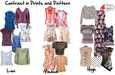 contrast in prints and pattern