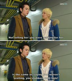 You're Beautiful | Jang Geun Suk as Hwang Tae Kyung and Lee Hong Ki as Jeremy | I'm glad someone told him how pathetic he was being by not going after her!