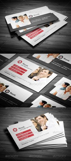 Clean Corporate Red Business Card