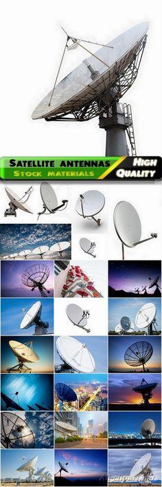 Satellite dishes antennas - 25 HQ Jpg