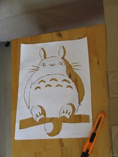 Totoro - actual stencil by ~moon-glaze on deviantART