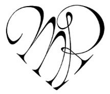 M&R tattoo in the shape of a heart. I want this!