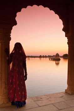 "ॐ Gadisagar Lake, Rajasthan- Mark Twain: ""So far as I am able to judge, nothing has been left undone, either by man or nature, to make India the most extraordinary country that the sun visits on his rounds. Nothing seems to have been forgotten, nothing overlooked."""
