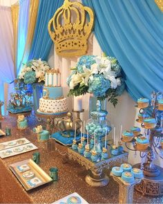 Baby Shower Boys, Baby Shower Parties, Baby Boys, Shower Party, Baby Shower  Themes, Baby Prince, Royal Prince, Prince Party, Royal Baby Showers